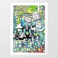 Visuals of Inexplicable Maybe, Act 2 Art Print