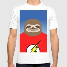 A SLOTH NAMED FLASH Mens Fitted Tee White SMALL