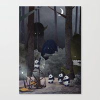 Catching The Pie Monster Canvas Print