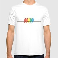 Birds Mens Fitted Tee White SMALL