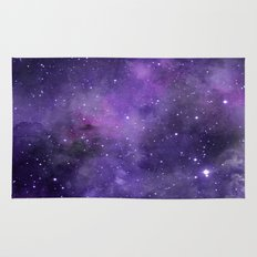 Purple Watercolor Space Pattern Rug