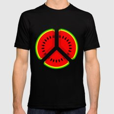 Watermelon Mens Fitted Tee Black SMALL