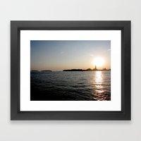 Sunset - Venice Framed Art Print
