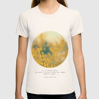 Forsythia Womens Fitted Tee Natural SMALL