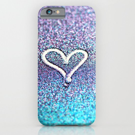 glitter heart- photograph of glitter  iPhone & iPod Case