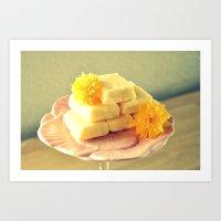 Lemon Fudge Art Print