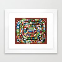 Planet of all good people Framed Art Print