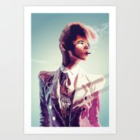 Art Print featuring suit cigg by Jordan McLaughlin