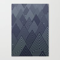 Indigo Forest Canvas Print
