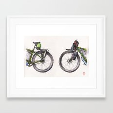 Coming and Going Framed Art Print