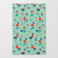 Blossom Ditsy In Grayed … Canvas Print