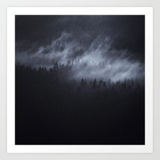 Light Shining Darkly Art Print