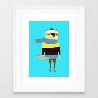 Bear Skateboarder, Skate… Framed Art Print