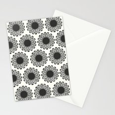 vintage flowers black Stationery Cards