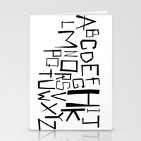 Alphabet #2 Stationery Cards