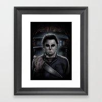 Halloween Michael Myers Framed Art Print
