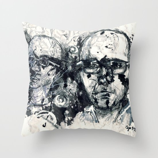 """Destroyed"" by Cap Blackard Throw Pillow"