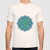 The Mandala-Cool Emerald Mens Fitted Tee Natural SMALL