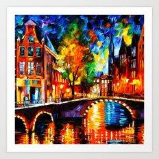 Starry Night Tardis Art Print