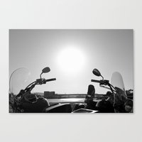Motorcycles Stand By Canvas Print