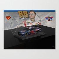 My Dale Jr. Super Man Ar… Canvas Print
