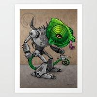 Chameleozoid Art Print