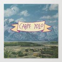 CARPE YOLO Canvas Print