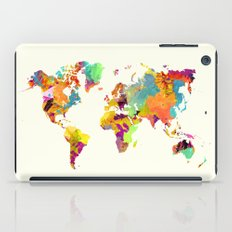 world map color art 2 iPad Case