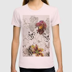 orchids Womens Fitted Tee Light Pink SMALL