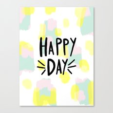 happy day abstract hand lettering Canvas Print