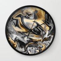 Gold Veins Wall Clock