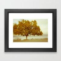 Dreamy Yellow Framed Art Print