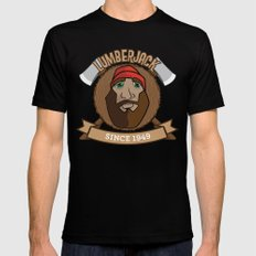 Lumberjack Since 1949 SMALL Mens Fitted Tee Black
