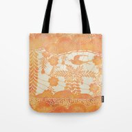Tote Bag featuring Flying Bird In Orange by Durin Eberhart