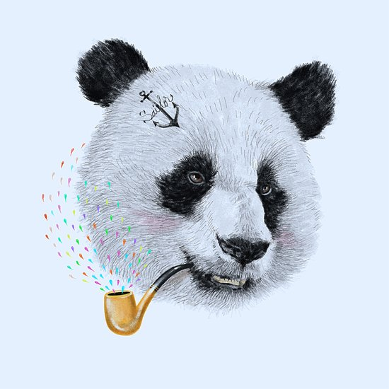 Panda Sailor Art Print