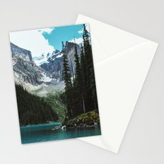 Canoeing in Moraine lake Stationery Cards