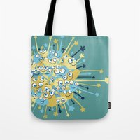 Bubbly Creatures Print Tote Bag