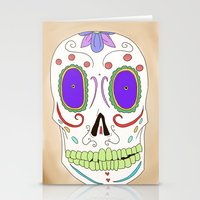 Candied Skull Stationery Cards