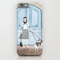 Lady With Two Dogs iPhone 6 Slim Case