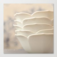 Canvas Print featuring White Petal Bowls by Jaime Lynn Photography