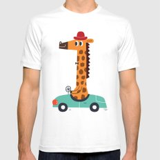 giraffe driver Mens Fitted Tee White SMALL