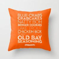 Baltimore — Delicious … Throw Pillow