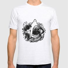 Shark off Mens Fitted Tee Ash Grey SMALL