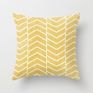 Throw Pillow featuring Yellow Chevron by Zeke Tucker