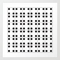 Domino pattern Art Print