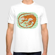 Tiger Mens Fitted Tee White SMALL