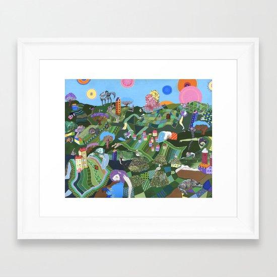 Sleeping Giants Framed Art Print