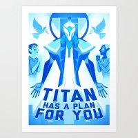 Titan's Plan Art Print