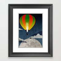 Picnic In A Balloon On T… Framed Art Print
