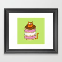 More Cats & Donuts Framed Art Print